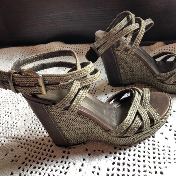 Stuart Weitzman Shoes - Amazing ankle wrap wedge